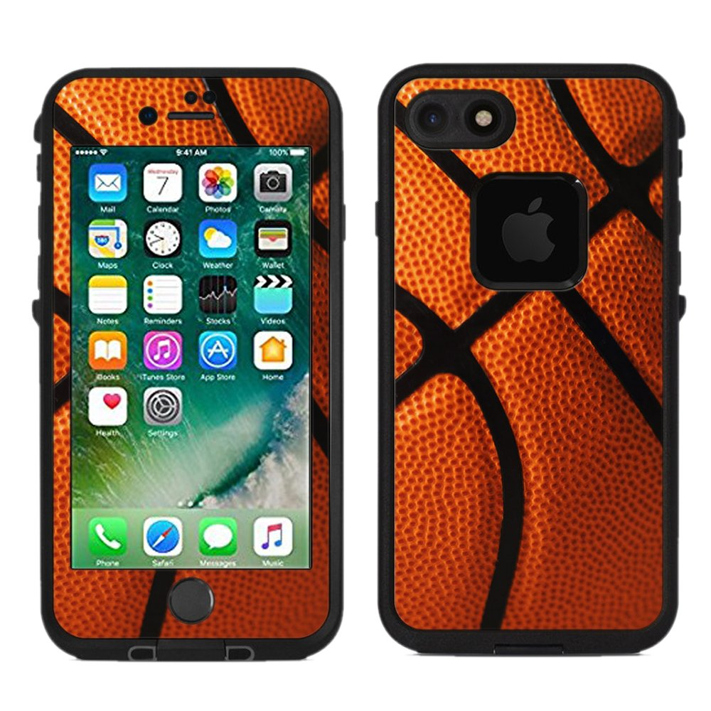 Protective designer vinyl skin decals stickers for lifeproof fre iphone 7 iphone 8 case basketball design patterns only skins and not case by