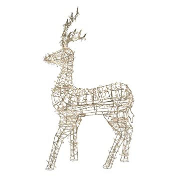 Northlight LED Lighted Standing Reindeer Outdoor Christmas Decoration With  Warm White Lights, 60u0026quot;