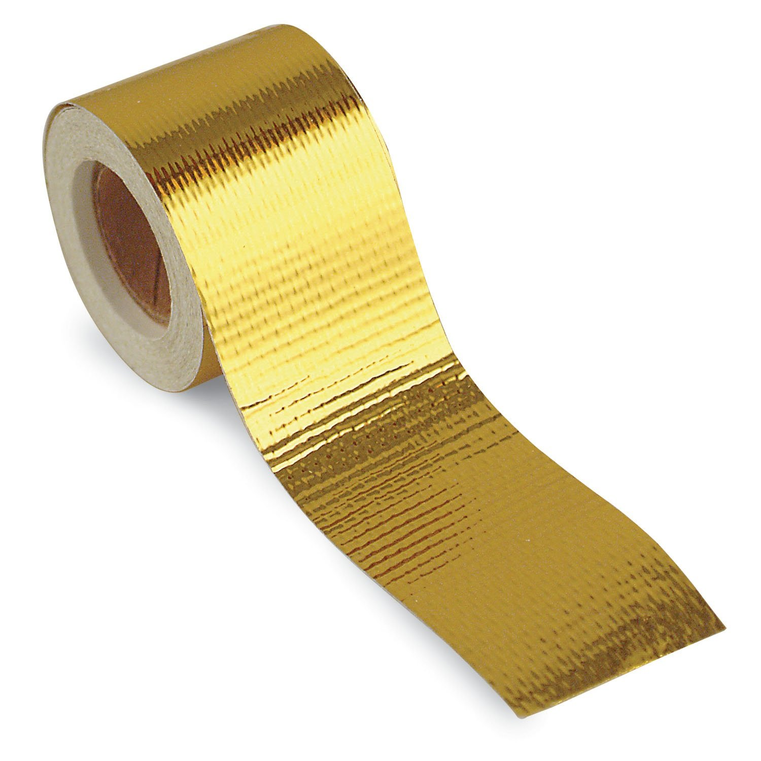 Design Engineering 010394 Reflect-A-GOLD High-Temperature Heat Reflective Adhesive Backed Roll, 1.5'' x 15' Roll