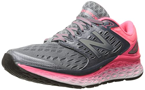 New Balance Womens Fresh Foam 1080v6 Running Shoe, Silver/Pink, ...