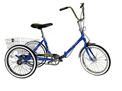 Amazon.com : Worksman Port-o-Trike Single Speed Adult Tricycle ...