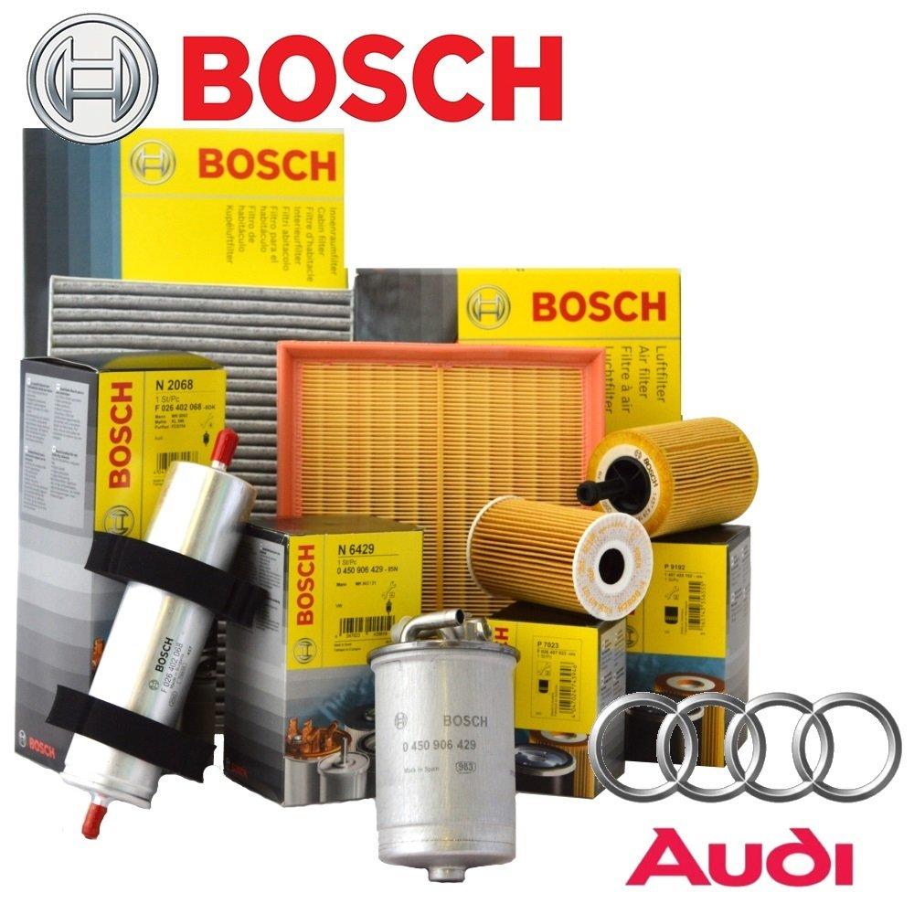 Kit de 4 filtros originales Bosch (1457429619, 0450906295, 1457433046, 1987432371).
