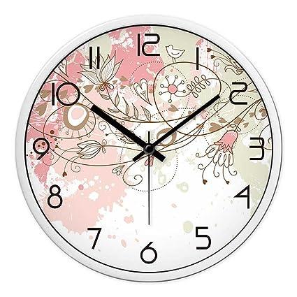 JJD Relojes Personalizados Y Elegante Reloj De Pared De Salón Dormitorio Moderno Gran Silencio Creativo Gráfico