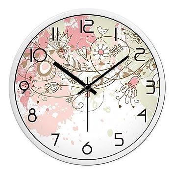 JJD Relojes Personalizados Y Elegante Reloj De Pared De Salón Dormitorio Moderno Gran Silencio Creativo Gráfico De Pared Reloj De Pared De Cuarzo, ...