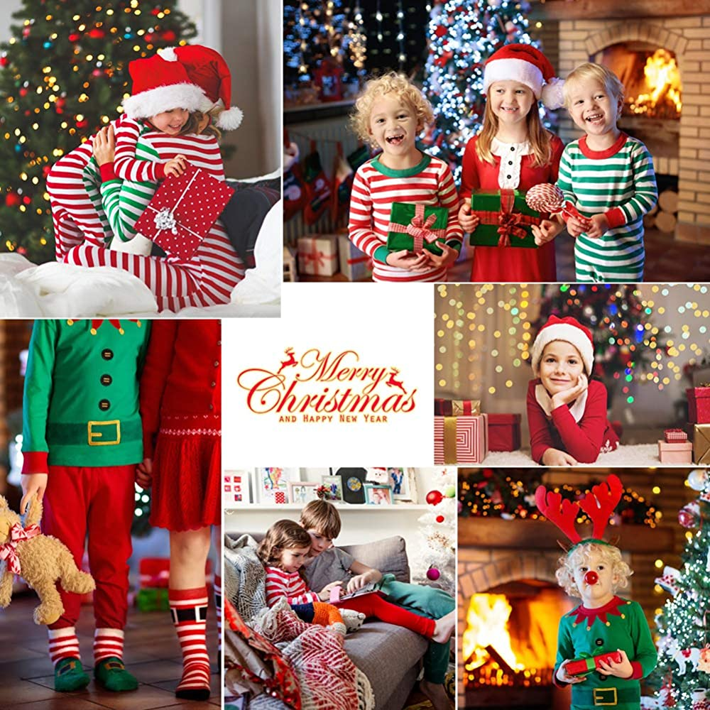 RAISEVERN Parent-Child Christmas Costume Kids Santa Bodysuit Elf Cosplay Jumpsuit for Xmas Party