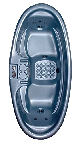 QCA Spas Model O Gemini Plug and Play Hot Tub. 92 by 42 by 29 Inch, Blue Denim