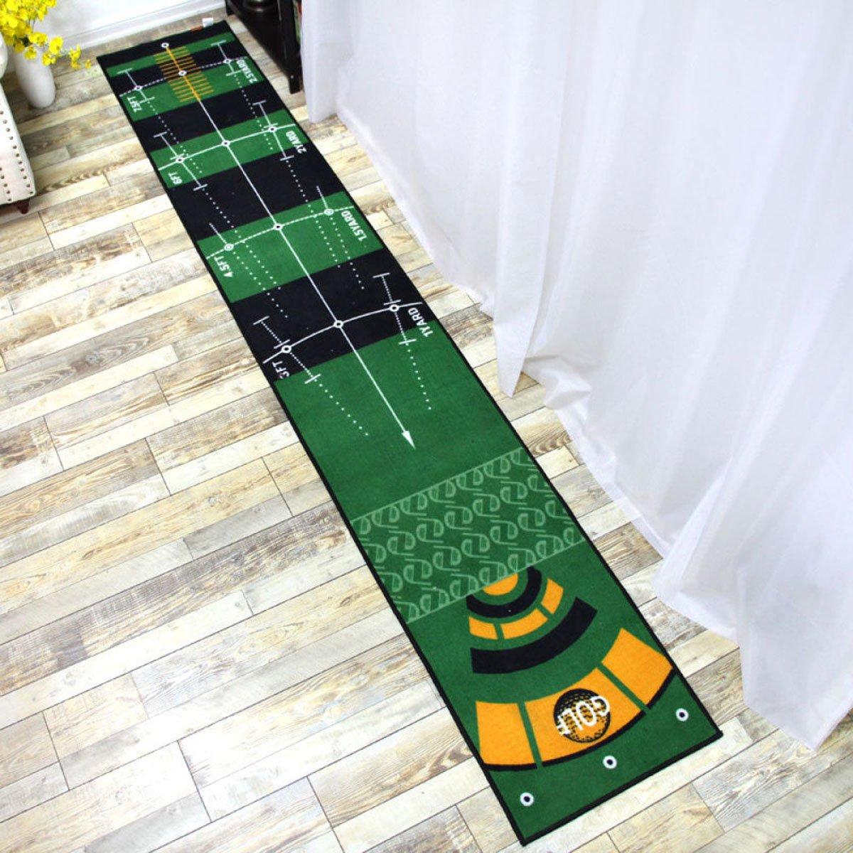 Dongy Launch Padゴルフ練習マット - リアルなフェアウェイを組み合わせたミニゴルフマット、500 x 3000 mm   B07JDVVMFF