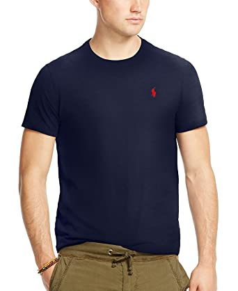 Polo Ralph Lauren Men's Custom-Fit Cotton Jersey T-Shirt, French Navy (