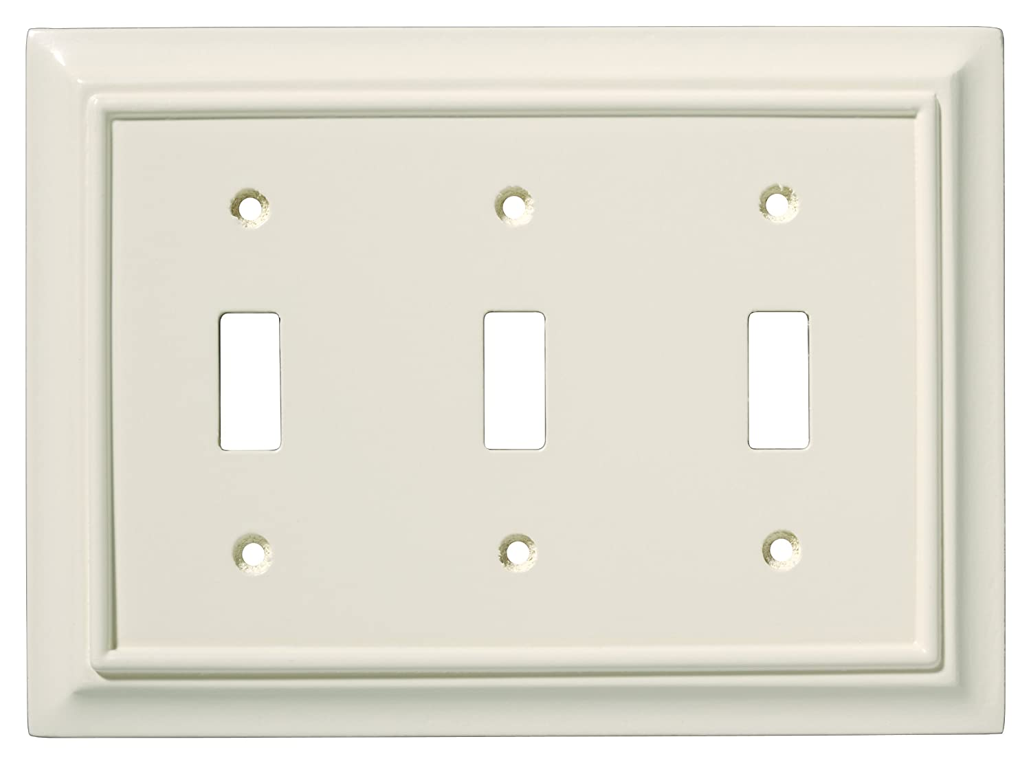 brainerd wood triple toggle switch wall plate switch plate cover amazoncom nickel wallplates