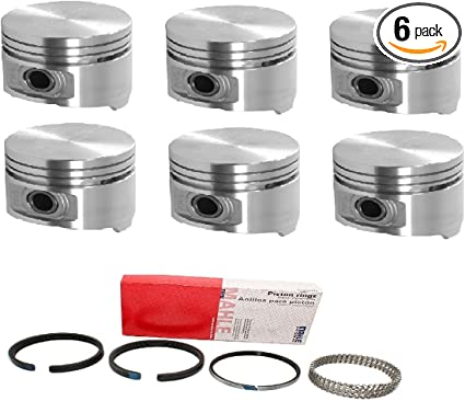 .040 Bore SEALED POWER Cast Pistons /& Rings KIT compatible with Chrysler Dodge Plymouth 3.7L 3.7 225ci Choice of Sizes