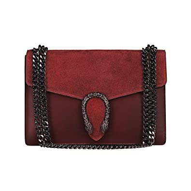 MYITALIANBAG RONDA Sac à main Baguette Pochette, sac à bandoulière avec  chaîne en nickel 49cc30005cf