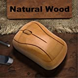 CFtrum Bamboo Wireless Optical Mouse - High Quality Handcrafted Healthy Sweat-resistant Anti-radiation 2.4GHz Wireless Wooden Mouse