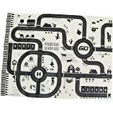 Flameer Kids Rug/Play Mat with City Traffic Roads Map for Cars & Train Game Toy - Children Play Carpet Boy Girl Nursery Playroom Play Mat