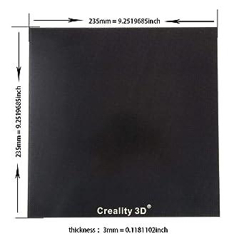 Ender 3 Glass Plate placa de vidrio cama térmica 235 x 235 mm Creality 3D impresora Base superficie de construcción Crystal Platform Eewolf