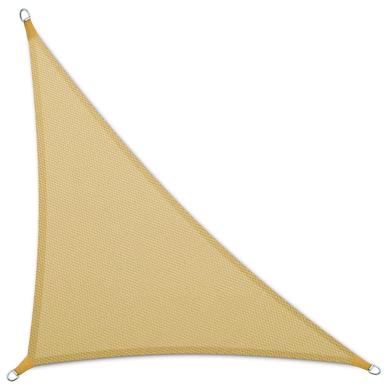 casa pura Tenda a vela Triangolare   Impermeabile   Da esterno   3, 6x3, 6x5, 1 m   Beige