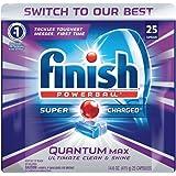 Finish Quantum Max Powerball, Dishwasher Detergent Tablets, 25 Tabs