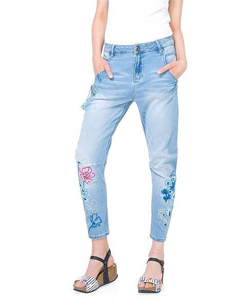 hot sale online discount pretty cool Desigual Women's Denim Pants Jeans, Sizes XS-XL at Amazon ...
