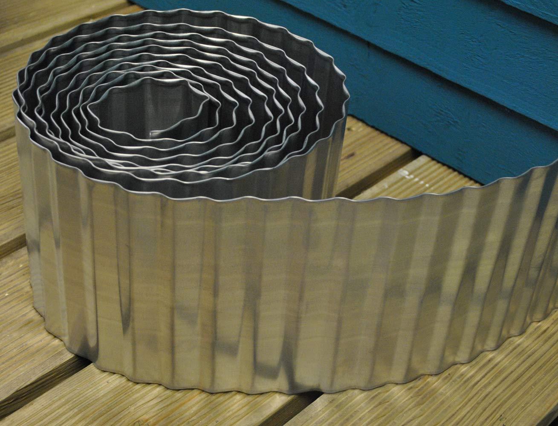 Selections - Borde de Acero galvanizado para césped (16, 5 m x 5 m ...
