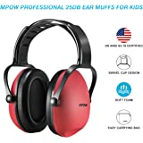 Mpow Kids Hearing Protection Ear Muffs, NRR 25dB Professional Sound Proof Ear Protection Ear Defenders For Sleeping Reading Shooting- Red