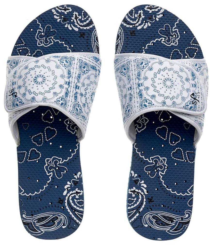 Showaflops Womens' Antimicrobial Shower & Water Sandals for Pool, Beach, Dorm and Gym - Bandana Adjustable Slide 9/10