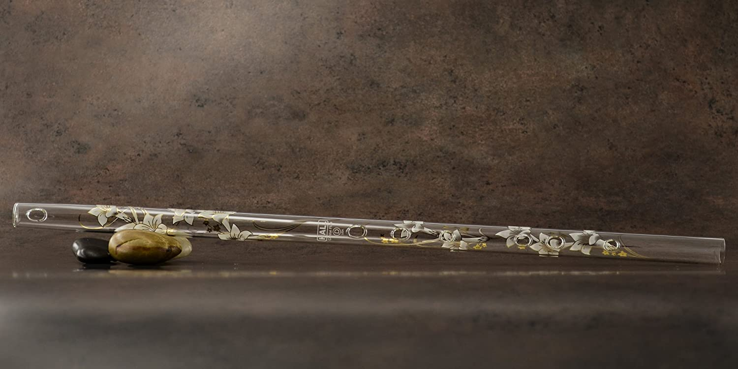 Hall Crystal Flute 22202 - Offset Glass Flute in D - Carolina Hall Crystal Flutes FLUTE D Offset CAROLINA