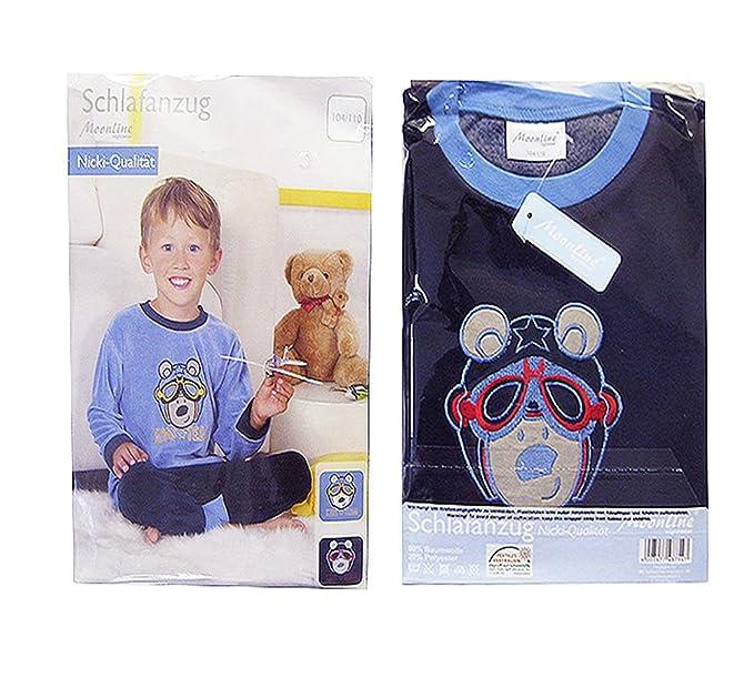 Joven Pijama, invierno Pijama, rizo, Baumwolle Azul azul