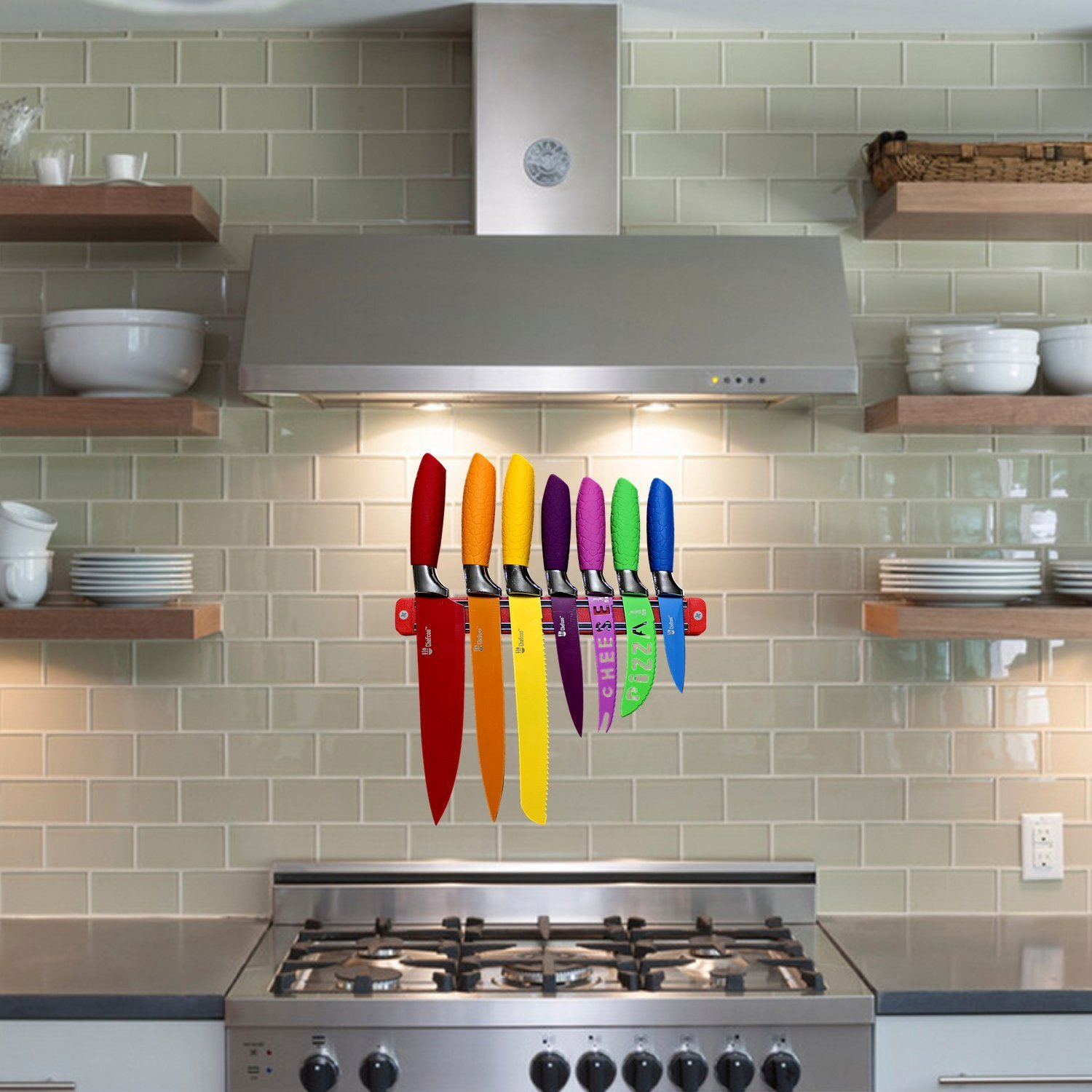 amazon com chefcoo kitchen all in one cutlery knife set with