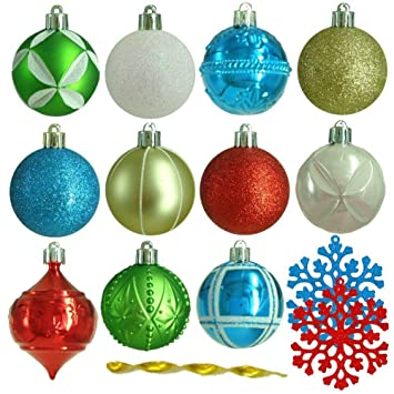 Martha Stewart 101 pc. Shatter Resistant Alpine Christmas Tree Ornaments - Amazon.com: Martha Stewart 101 Pc. Shatter Resistant Alpine