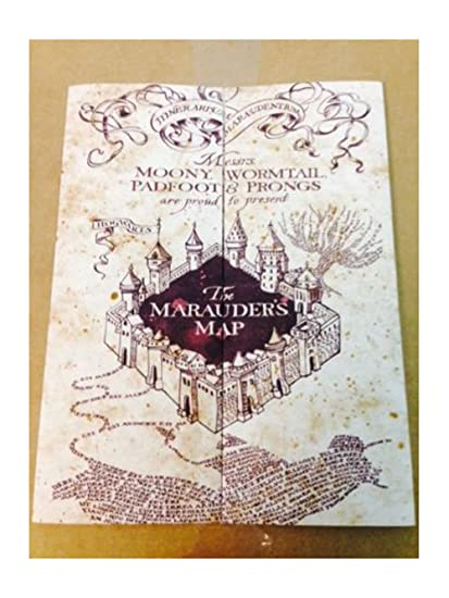 Amazon.com: Marauder\'s Map Hogwarts Wizarding World Harry Potter ...