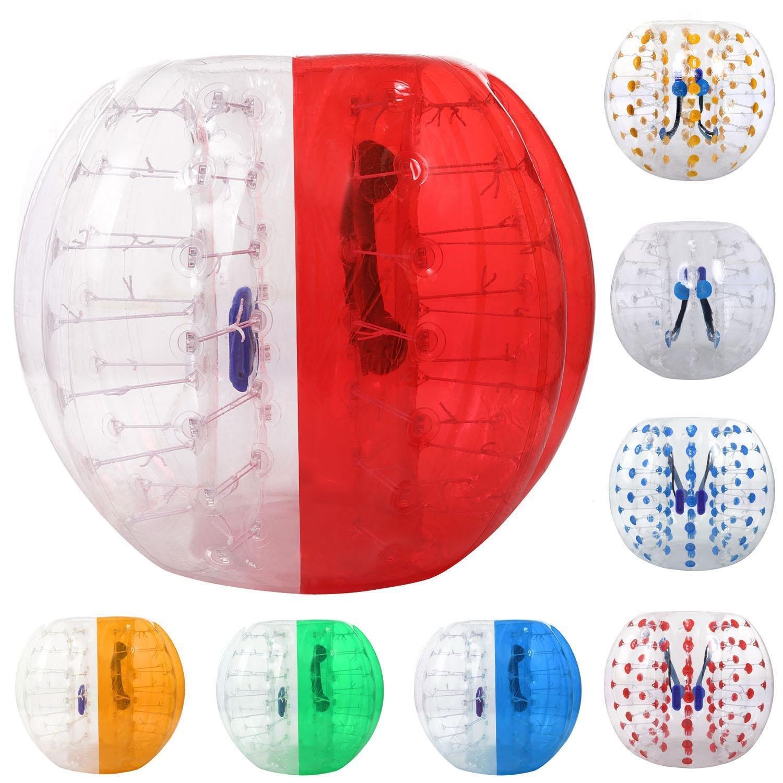 etuoji透明インフレータブルバンパーバブルサッカーボール、人間Knockerハムスターボールバブルサッカーの大人10代と123 / 133 cm、直径USストック B0774J7YYZ 1.5m|レッド レッド 1.5m