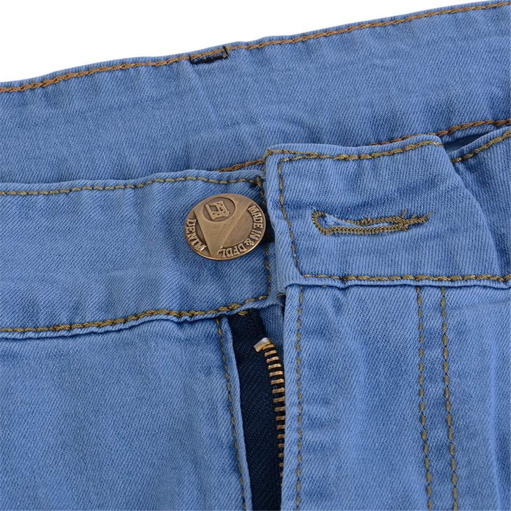 somethingoods Men Jeans Pencil Denim Pants Fashion Casual Stretch Skinny Jeans Male Trousers Bottoms Blue