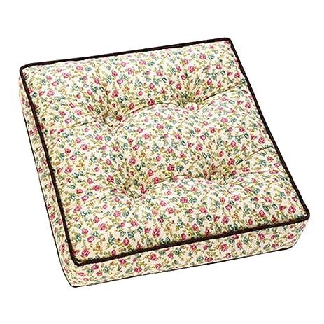 Amazon.com: Cotton Square Tatami Mat Floor Pillow Sitting Cushion ...