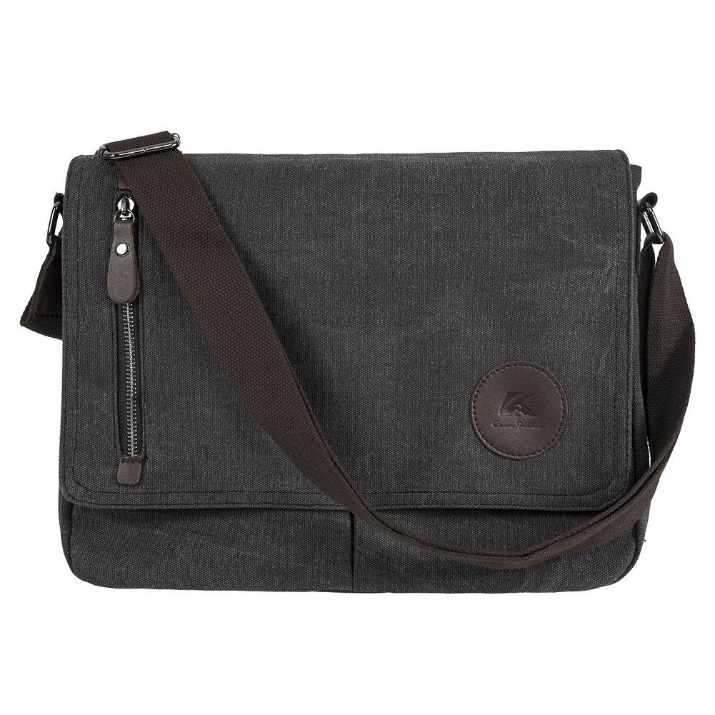 Vintage Laptop Messenger Bag Canvas Shoulder Crossbody Satchel British Style