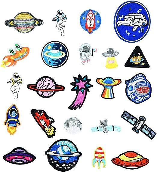 Irich 23 Piezas Parches Bordados, Creatividad Modelo Parches Decorativos Parche de Ropa para Camiseta Jeans Sombrero Bolsas: Amazon.es: Hogar