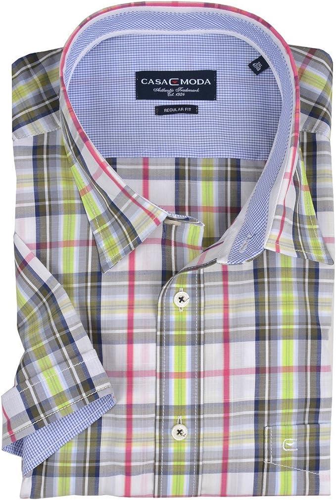 Camiseta Manga Corta Casa Moda Rosa Verde Cuadros Oversize ...