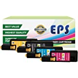 EPS Compatible Replacement for Dell 1250c 1350cnw 1355cn High Yield Black Toner Cartridges - 4 pk ( BCMY )
