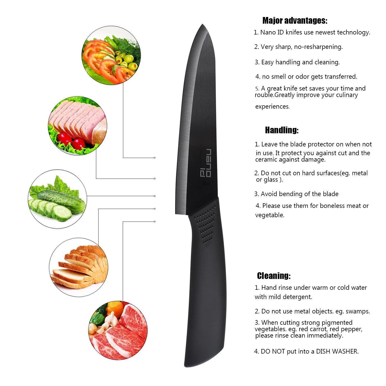 Ceramic Knife Set Nano ID Modern Kitchen Knife Very Sharp by NANO ID (Image #2)