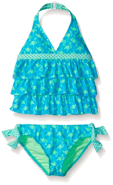 c39d5ddbbc5 Amazon.com: Angel Beach Little Girls' Tropical Flock Flamingo Print Triple Ruffle  Tankini Set, Multi, 5: Clothing