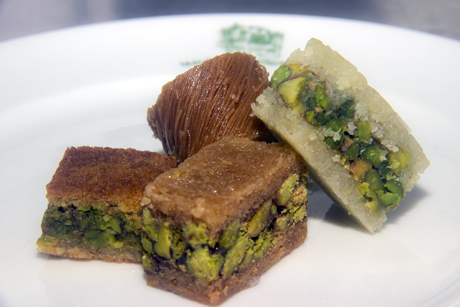 Assorted Baklava Sweets w/Pistachio (20 Oz) : 23-25 Pcs small cut - Imported Fresh from Lebanon - THE ORIGINAL Recipe From Middle East - Assorted Baklava Pastry Pistachios (20 Oz) by Hallab 1881 (Image #4)