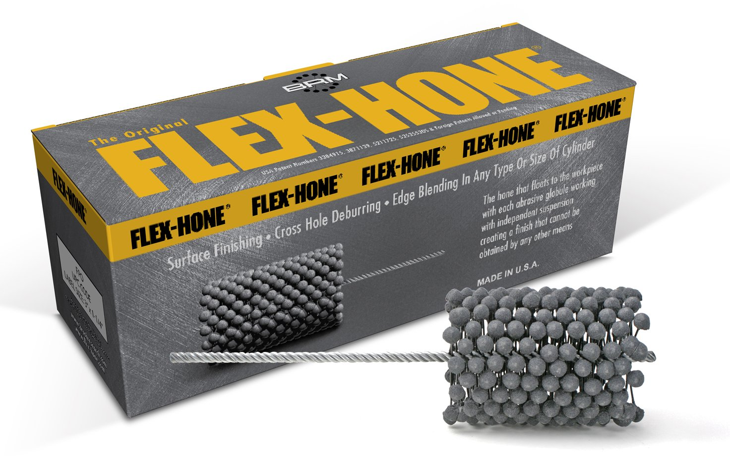 Brush Research FLEX-HONE Cylinder Hone GBD Series Diameter 180 Grit Size 95 mm Silicon Carbide Abrasive 3-3//4