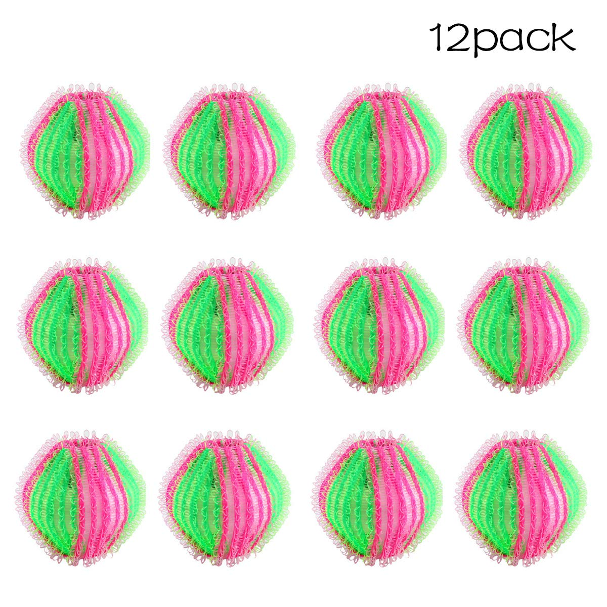 12 Pack Pet Hair Remover Balls for Laundry Reusable Lint Remover Balls Dryer Balls Hair Catcher for Washing Machine