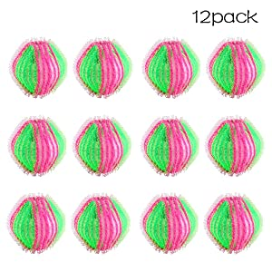 12 Pack Pet Hair Remover Balls for Laundry Reusable Lint RemoverBalls Dryer Balls Hair Catcher for Washing Machine