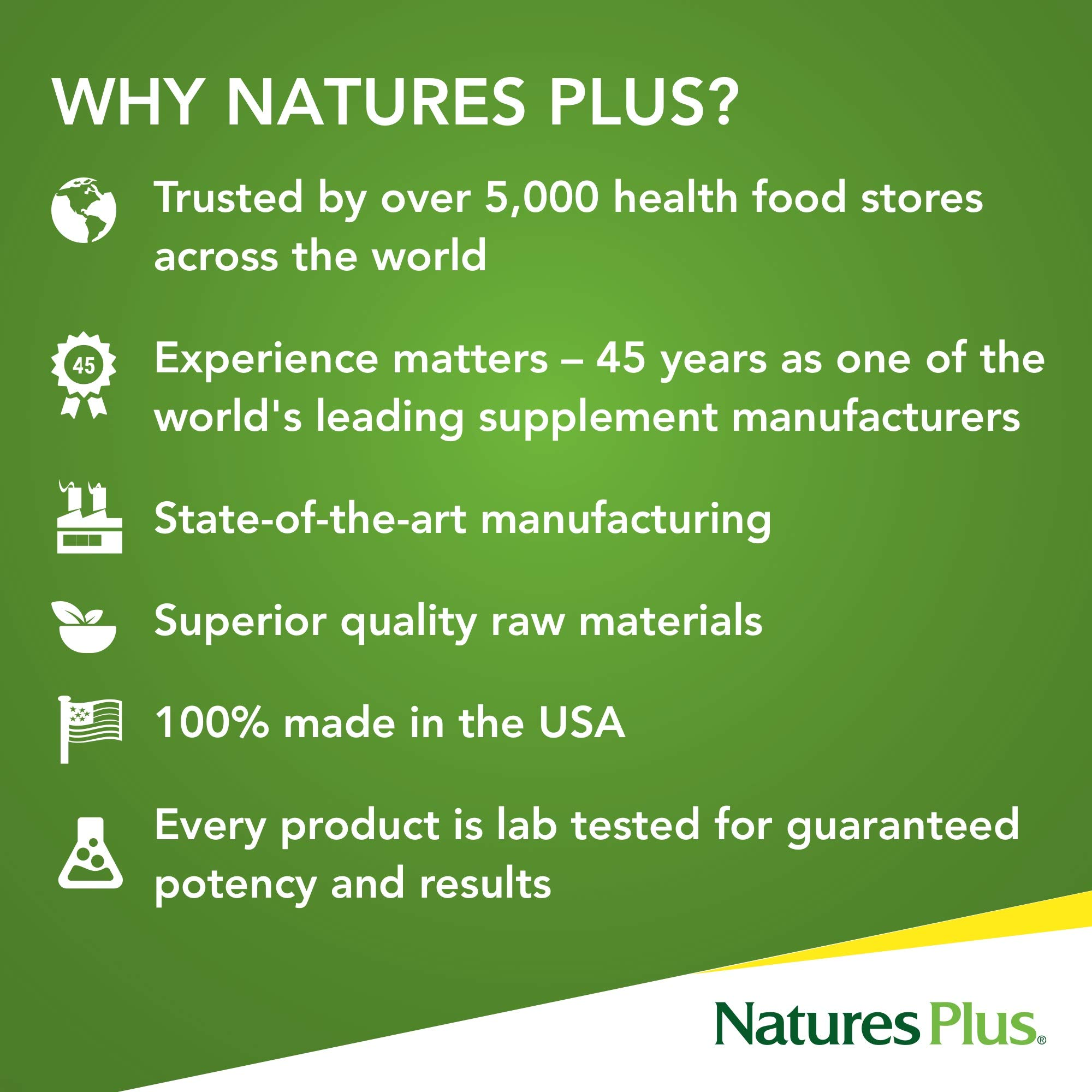Natures Plus Source of Life Gold - 180 Vegetarian Tablets - Daily High Potency Antioxidant and Anti-Aging Whole Food Multivitamin Supplement, Energy Booster - Gluten Free - 60 Servings by Nature's Plus (Image #5)