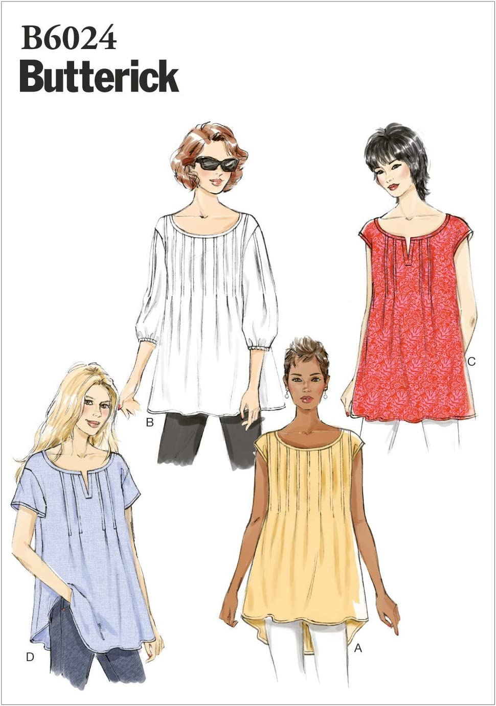 Size ZZ Gown and Pants LRG-XLG-XXL Butterick Patterns B5792ZZ0 Misses Top Sewing Pattern