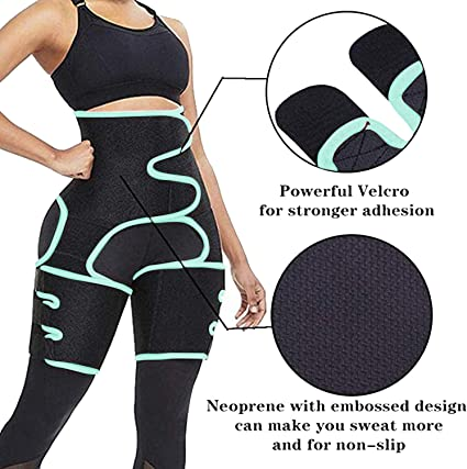 Best Companions 3-in-1 Waist Trainer Hip Enhancer Invisible Body Shapewear Thigh Trimmers for Women Exercise Workout Fitness Partner