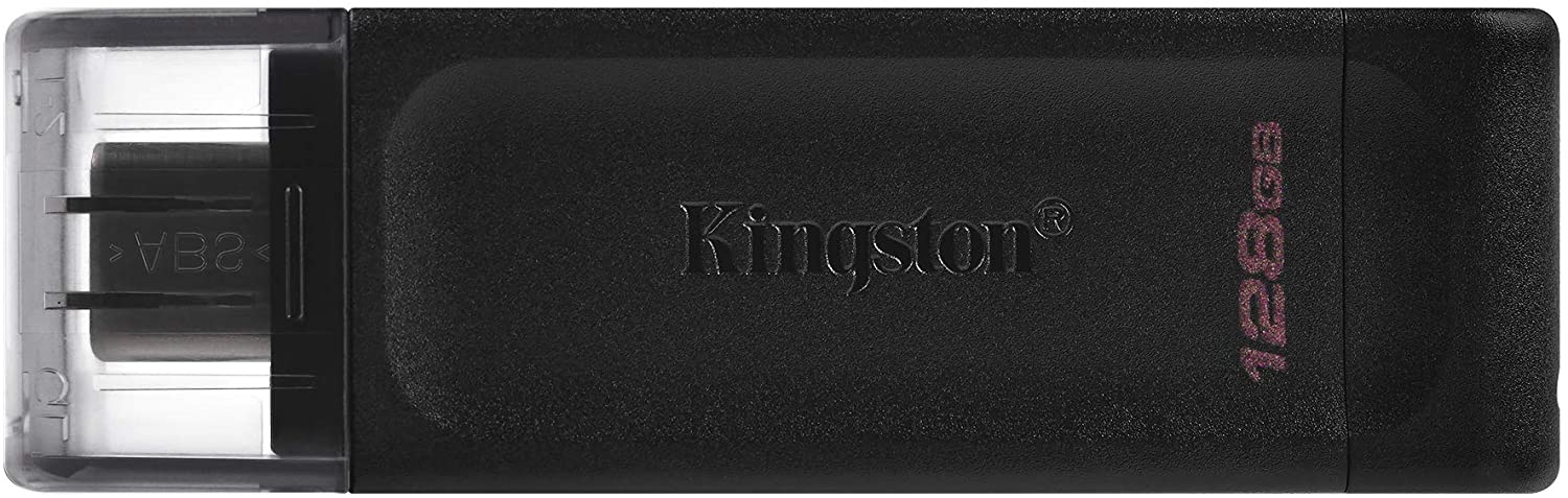 Kingston DataTraveler 70 128GB Portable and Lightweight USB-C flashdrive with USB 3.2 Gen 1 speeds DT70/128GB