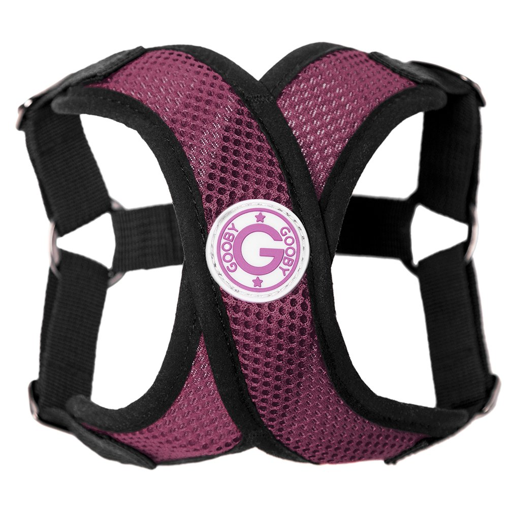 PURPLE Large chest (17-21\ PURPLE Large chest (17-21\ Gooby Choke Free Step-in Comfort X Dog Harness, Large, Purple