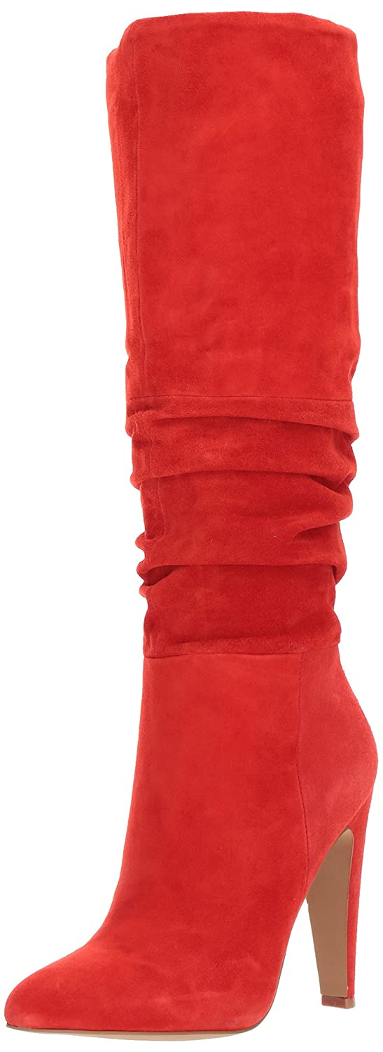 Steve Madden Women's Carrie Fashion Boot B071WNCHXZ 6.5 B(M) US|Red Suede