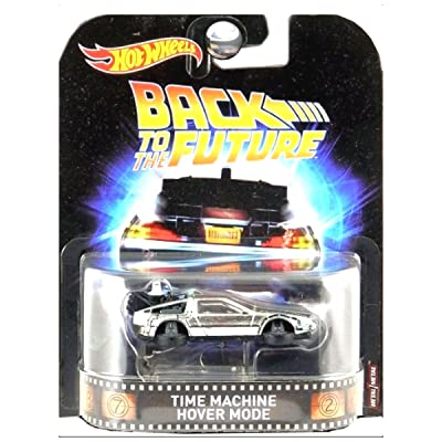 2020 Hot Wheels Retro Entertainment Real Riders Back To The Future Time Machine Hover Mode: Toys & Games