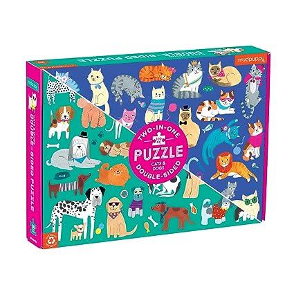 Amazon.com: Mudpuppy - Puzzle de doble cara (100 piezas ...
